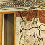 Wallpainting at Ancient Akrotiri